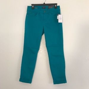 NYDJ Alex Convertible Ankle Pant in Blue size 4